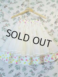 """""""funny dot CRAZY"""" vintage fabric colorful Dot×パ二エスカート"""