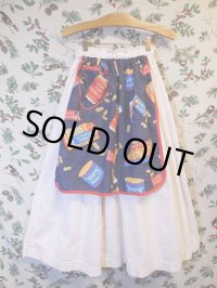 """funny dot CRAZY""vintage fabric skirt〜""Mr.PEANUT""×エプロンデザイン〜"