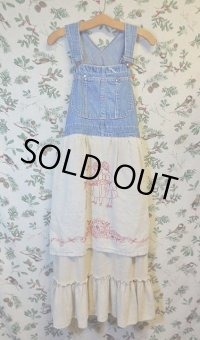 """funny dot CRAZY"" vintage denim オーバードレス"