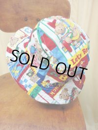 """funny dot CRAZY"" vintage fabric Bucket Hat 〜Bear mam〜"