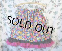 """funny dot CRAZY"" vintage skirt〜FUNNYアニマルパターン×ブラック×ピンクパ二エ〜"