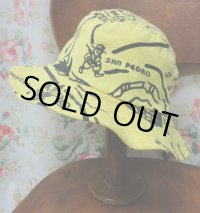 """funny dot CRAZY"" vintage fabric Bucket Hat 〜CALIFORNIA BEACH〜"