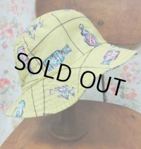 """""""funny dot CRAZY"""" vintage fabric Bucket Hat 〜HOUSEHOLD GOODS〜"""