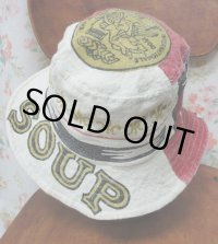 """""""funny dot CRAZY"""" vintage fabric Bucket Hat 〜CAMPBELL SOUP〜"""