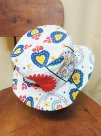 """""""funny dot CRAZY"""" vintage fabric Bucket Hat 〜 fowl 〜"""