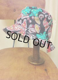 """funny dot CRAZY"" vintage fabric Bucket Hat 〜PIZZA〜"