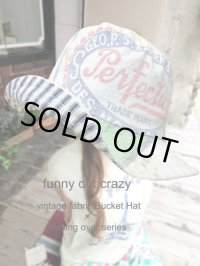 """funny dot CRAZY"" vintage sack Bucket Hat 〜perfection〜"