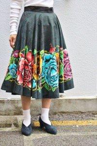'50s Vintage Skirt 〜メキシコ×ブラックフラワー〜