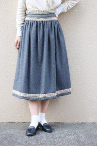 Vintage Skirt〜グレー×レース〜