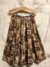 '50s-'60s Vintage Skirt 〜ブラウン×リンカーン〜