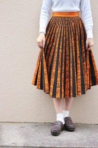 '50s Vintage Skirt 〜メキシコ×ブラック&オレンジ×文様〜