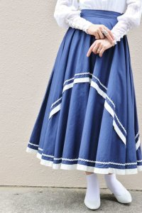 '50s Vintage Skirt 〜ネイビー×ヤマミチテープ×サーキュラー〜