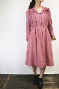 Vintage Dress 〜ピンク×チェック×フラワー〜