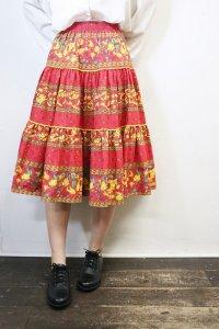 Vintage Skirt 〜プロバンス×レッド&フラワー〜