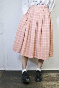 Vintage Skirt  〜ピンク&チェック〜