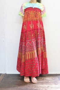 Vintage Skirt 〜MADE IN INDIA×コットンラップスカート〜