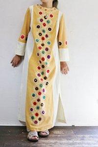 Vintage Dress 〜ミラーワーク×ハンドステッチ×カラフル〜