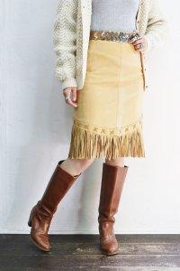'70sVintage Skirt  〜フリンジ×レザー〜