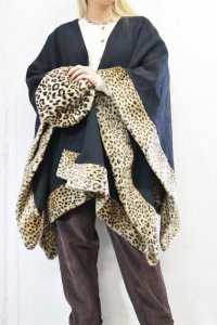 Vintage Shawl 〜MADE IN AMERICA×レオパード〜