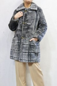 Vintage Coat 〜MADE IN USA×エコファー×チェック〜
