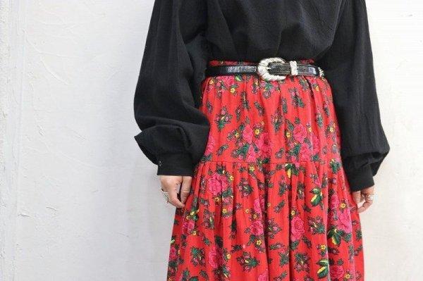 画像2: Vintage Skirt 〜フラワー×パッチワーク×チャーム〜