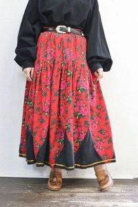 Vintage Skirt 〜フラワー×パッチワーク×チャーム〜
