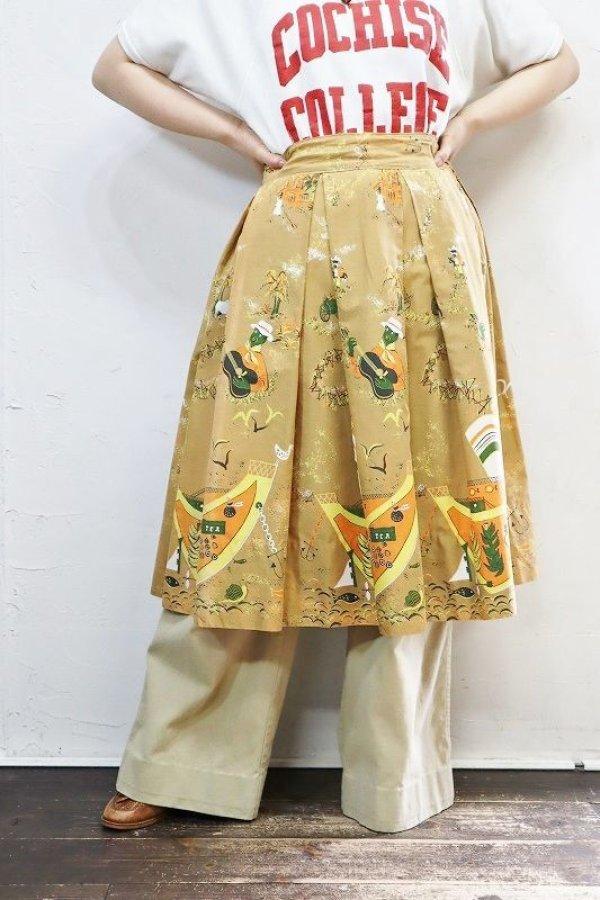画像1: '50s Vintage Skirt 〜エンドパターン×カリプソ×CROWNジップ〜