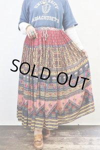 Vintage Skirt 〜MADE IN INDIA×コットン×フラワー〜