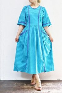'70s Vintage Dress 〜MADE IN W.GERMANY×コットン×ボーダー〜