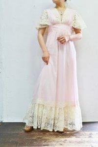 '70s Vintage Dress 〜フラワーレース×ピンク〜