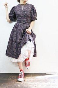 '50-'60s Vintage Dress 〜フラワー×ヤマミチテープ×リボン〜