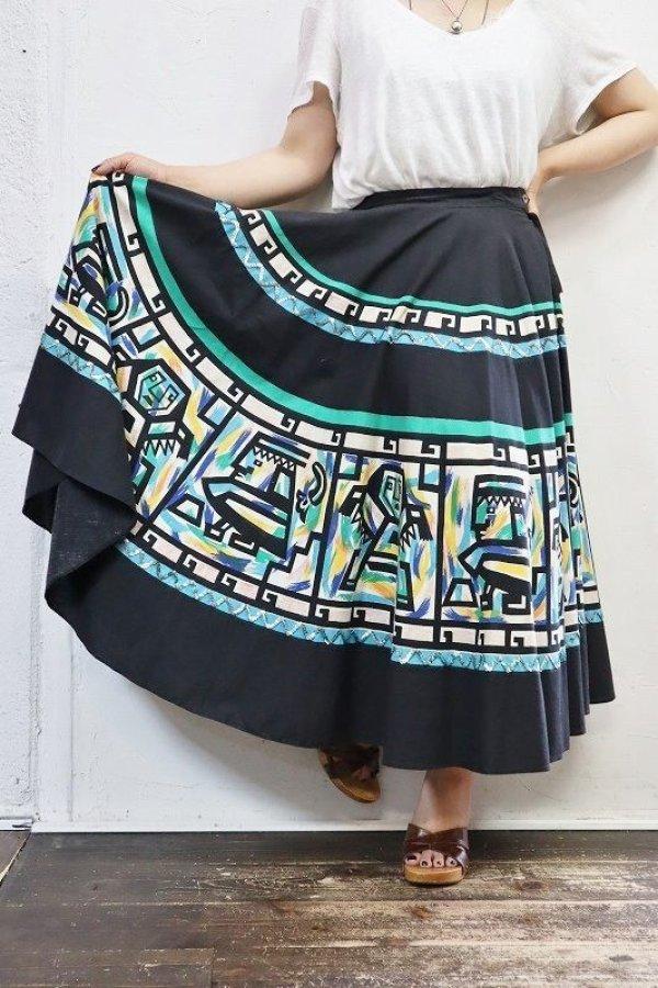 画像2: '50s Vintage Skirt 〜A Madalyn Miller×ネイティブ×スパンコール×サーキュラー〜