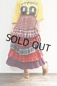Vintage Skirt 〜MADE IN USA×コットン×チェック×ティアード〜