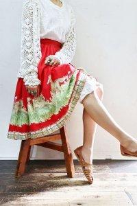 '50s Vintage Skirt 〜馬×エンドパターン×刺繍〜