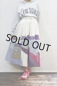Vintage Skirt 〜チロル×街並みパッチ〜